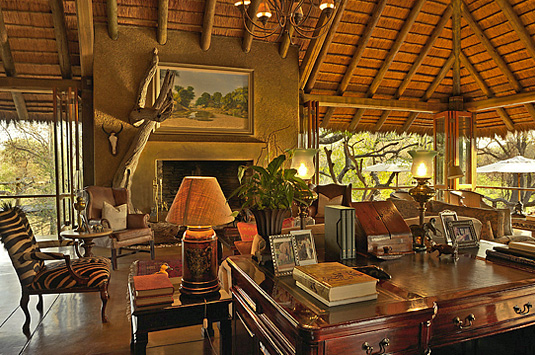 Camp Jabulani Main Lodge Lounge relax Greater Kruger