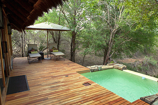 Deck view plunge pool Luxury Suites Camp Jabulani Kapama Greater Kruger