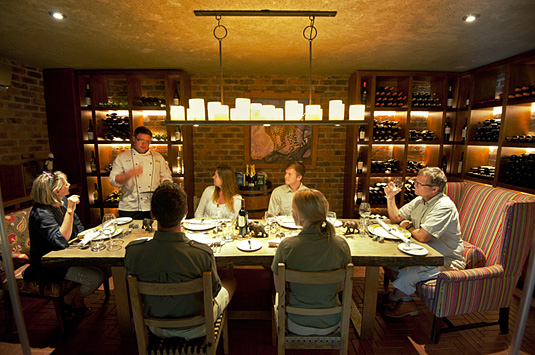 Camp Jabulani private fine dining Wine Cellar Main Lodge Greater Kruger Kapama South Africa