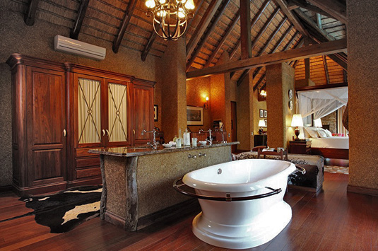 Luxury Main suite open plan bathroom Private Zindoga Villa Camp Jabulani Big 5 Kapama Private Game Reserve Greater Kruger South Africa