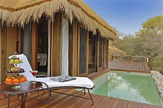 Private plunge pool  Deck Private Zindoga Villa Camp Jabulani Big 5 Kapama Private Game Reserve Greater Kruger South Africa